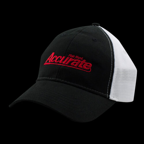 Accurate Trucker Hat - Black w/ White