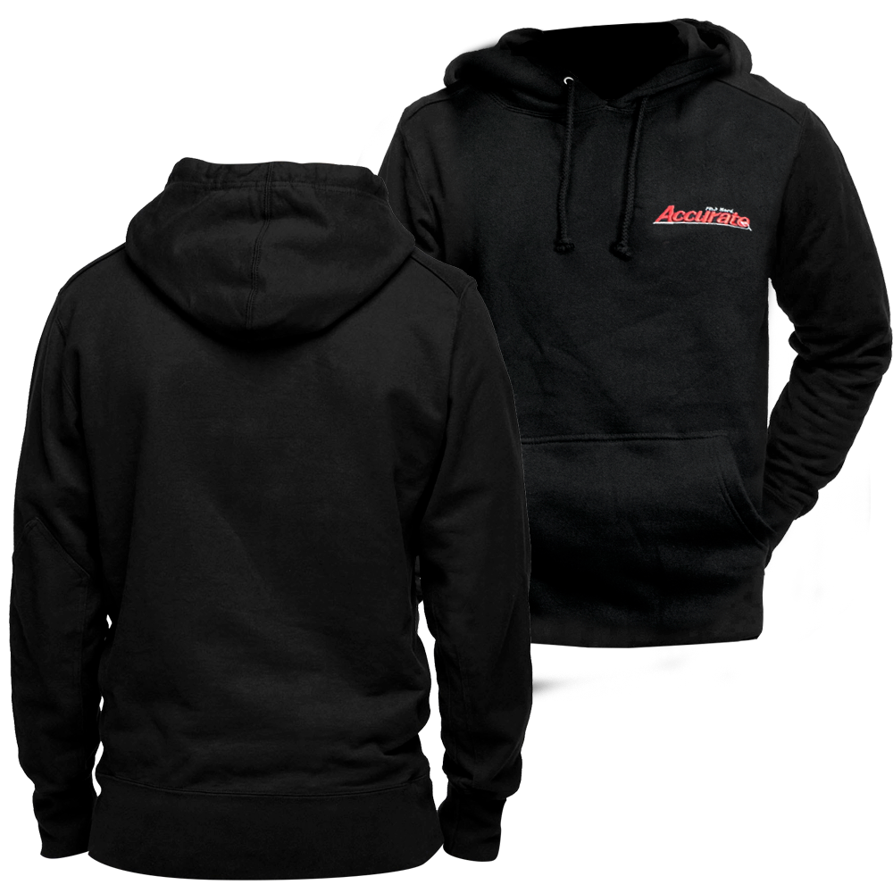 Accurate Embroidered Hooded Pullover - Black | Accurate ...