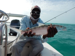 Guide with Bonefish